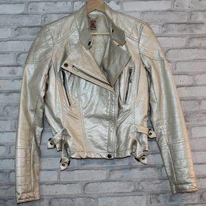 Metallic Bomber Motorcycle Jacket DECREE Small EUC